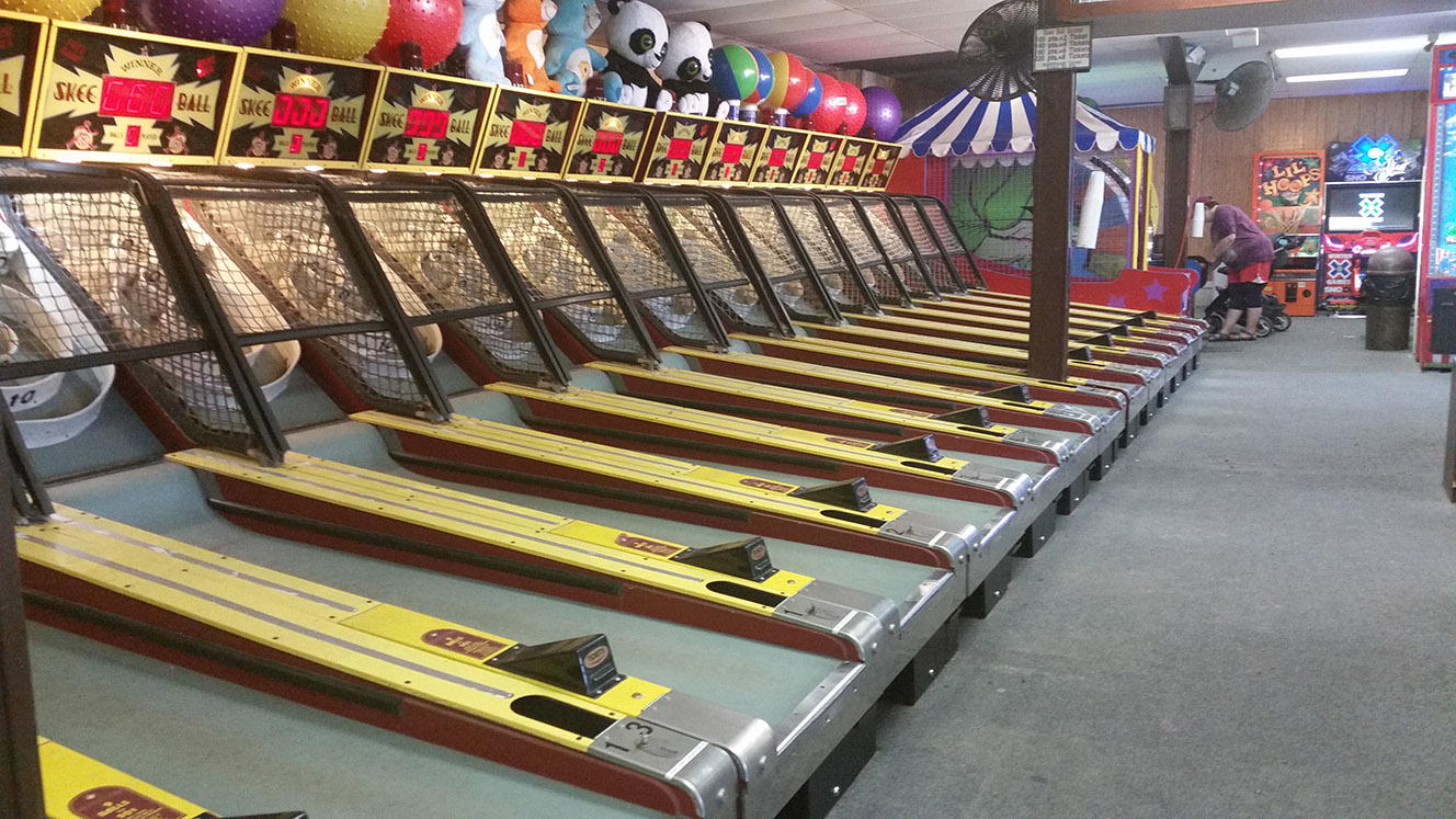 Skee ball in Cape Ma